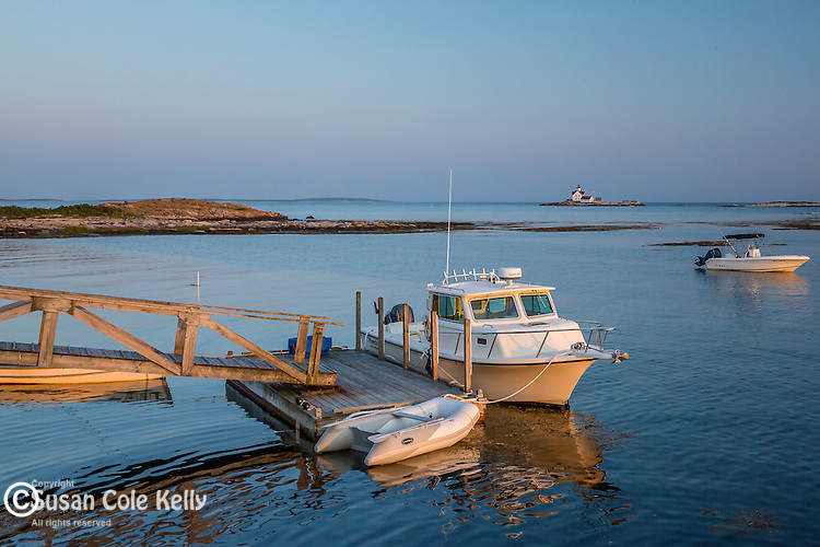 Harbor scene in Southport, Maine, USA