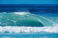 An empty wave sucking below sea level at Kirra during the swell generated from Cyclone Betsy. Betsy is considered one of the best cyclone swells in the past 20 years. Kirra Point, Coolangatta, Queensland, Australia. circa 1992. Photo: joliphotos.com