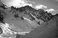 Tour to the Col d'Argentiere via the Glacier du Tour Noir.  3620m