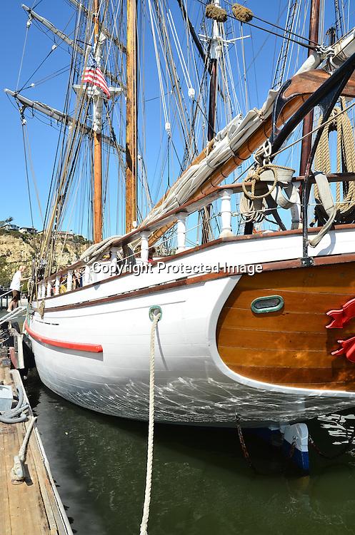 Stock photos of a schooner Stock photos of stern of a sailing ship