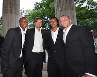 Rodney Wallace, Carey Talley, Juan Manuel Pena and Kurt Mosink of DC United at a reception for AC Milan at DAR Constitution Hall in Washington DC on May 24 2010.