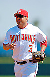 8 March 2006: Jose Vidro, second baseman for the Washington Nationals, trots back to the dugout during a Spring Training game against the St. Louis Cardinals. The Cardinals defeated the Nationals 7-4 in 10 innings at Space Coast Stadium, in Viera, Florida...Mandatory Photo Credit: Ed Wolfstein.