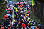 A wet day ahead for the 5000 riders in the 2017 Strade Bianche Gran Fondo by Trek, running 127km from Siena to Siena, Tuscany, Italy 5th March 2017.<br /> Picture: La Presse/Gian Mattia D'Alberto | Newsfile<br /> <br /> <br /> All photos usage must carry mandatory copyright credit (&copy; Newsfile | La Presse)
