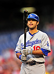 23 April 2010: Los Angeles Dodgers' right fielder Andre Ethier plays against the Washington Nationals at Nationals Park in Washington, DC. The Nationals defeated the Dodgers 5-1 in the first game of their 3-game series. Mandatory Credit: Ed Wolfstein Photo