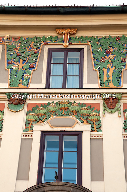 Decorative borders on a building facade