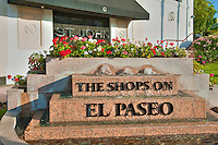 "El Paseo Drive, Palm Desert, CA, ""The Shops on EL Paseo"" marker"