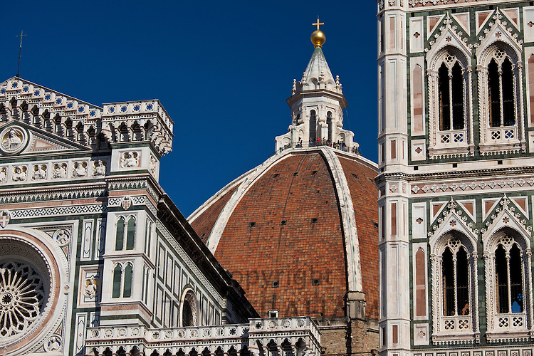 Il Duomo di Firenze, Cathedral of Florence, and bell tower in Piazza di San Giovanni, Tuscany, Italy