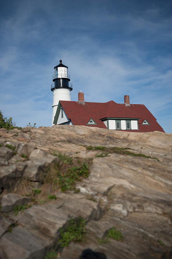 Head Light Lighthouse. Portland, Maine
