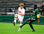 12 September 2010: Cornell University Big Red midfielder Benjamin Williams, a Freshman from Noblesville, IN, in action against the University of Vermont Catamounts at Centennial Field in Burlington, Vermont. The Catamounts edged out the Big Red 2-1. Mandatory Credit: Ed Wolfstein Photo