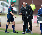 St Johnstone v Inverness Caley Thistle...02.05.15   SPFL<br /> Ref Andrew Dallas has words with Yogi Hughes<br /> Picture by Graeme Hart.<br /> Copyright Perthshire Picture Agency<br /> Tel: 01738 623350  Mobile: 07990 594431