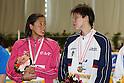 (L to R) Hanae Ito, .Tomoko Hagiwara, FEBRUARY 11, 2012 - Swimming : The 53rd Japan Swimming Championships (25m) Women's 50m Freestyle Victory Ceremony at Tatsumi International Swimming Pool, Tokyo, Japan. (Photo by YUTAKA/AFLO SPORT) [1040]