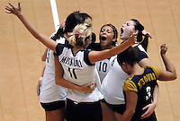 Missouri celebrates a kill in game two against SIUE.