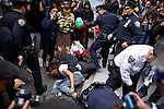 Occupy Wall Street members clash with NYPD officers during a march against police brutality in New York, United States. 24/03/2012.  Photo by Eduardo Munoz Alvarez / VIEWpress.