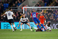Crystal Palace's Andros Townsend is fouled by Tottenham Hotspur's Victor Wanyama (already on a yellow card)     <br /> <br /> <br /> Photographer Craig Mercer/CameraSport<br /> <br /> The Premier League - Crystal Palace v Tottenham Hotspur - Wednesday 26th April 2017 - Selhurst Park - London<br /> <br /> World Copyright &copy; 2017 CameraSport. All rights reserved. 43 Linden Ave. Countesthorpe. Leicester. England. LE8 5PG - Tel: +44 (0) 116 277 4147 - admin@camerasport.com - www.camerasport.com