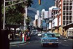 Traffic in Caracass,Venezuela,South America, Caribbean 1976