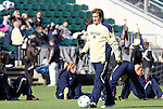 05 December 2010: Notre Dame head coach Randy Waldrum. The Notre Dame University Fighting Irish defeated the Stanford University Cardinal 1-0 at WakeMed Stadium in Cary, North Carolina in the 2010 NCAA Women's College Cup Championship Game.