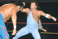 Jerry The King Lawler wrestles The Honky Tonk Man in 1990's. Credit: John Palmer/ MediaPunch