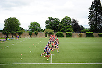 The Bath Rugby squad in action. Bath Rugby pre-season skills training on June 21, 2016 at Farleigh House in Bath, England. Photo by: Patrick Khachfe / Onside Images