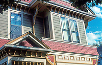 Victoria: Detail of Victorian House, 731 Vancouver St.  Photo '88.