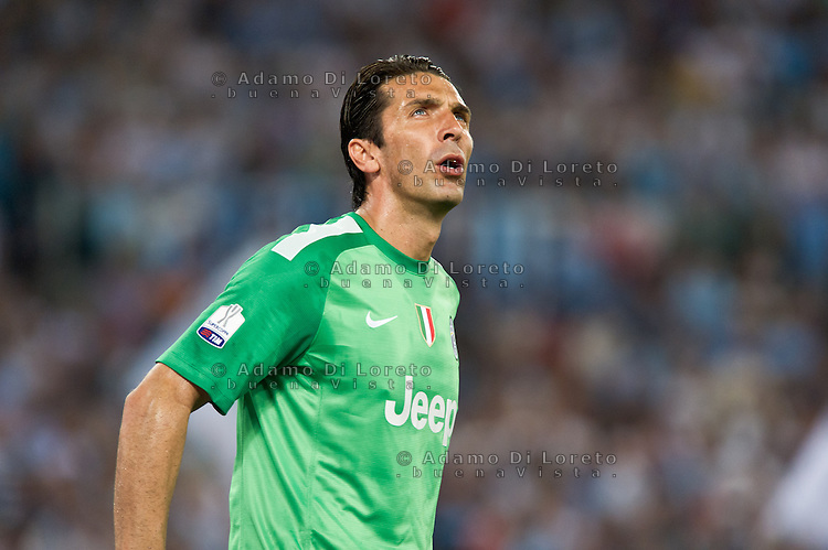 Juventus beat Lazio 4-0 in the Italian Supercoppa final match in Rome, Italy, on August 18, 2013. In the photo: Gianluigi buffon Juventus. Photo: Adamo Di Loreto/BuenaVista*photo