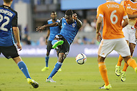San Jose, California - July 10, 2015: San Jose Earthquakes vs Houston Dynamo at Avaya Stadium Friday night. The Dynamo defeated the Earthquakes 2-0.