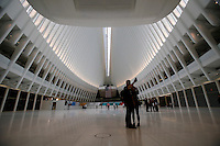 "The transit hub ""The Oculus"" replaces the PATH train station that was destroyed during the 9/11 terrorist attacks. in New York, 03/11/2016. The $4 billion station was made by Spanish Architect Santiago Calatrava it's symbol of resilience after the September 11th attack. Photo by VIEWpress/Kena Betancur"