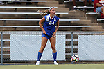 19 August 2016: Duke's Morgan Reid. The Duke University Blue Devils played the Wofford College Terriers in a 2016 NCAA Division I Women's Soccer match. Duke won the game 9-1.