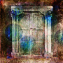 Antique Doors. Photo based illustration.