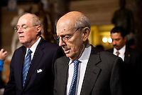 Supreme Court justice Stephen Breyer arrives for President Barack Obama's State of the Union address in the U.S. Capitol on Tuesday, January 24, 2012 in Washington, DC.