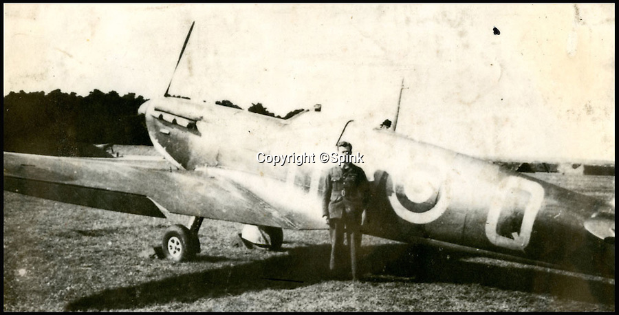 BNPS.co.uk (01202 558833)<br /> Pic: Spink/BNPS<br /> <br /> ***Please Use Full Byline***<br /> <br /> Hamlyn, No. 610 Squadron, Biggin Hill.<br /> <br /> The remarkable story of a prolific RAF hero who achieved 'ace' status in just two-and-a-half hours of flying has come to light after his medals were put up for sale.<br /> <br /> Squadron Leader Ronald Fairfax Hamlyn went up in his Spitfire three times on August 24, 1940, at the very height of the Battle of Britain.<br /> <br /> He was awarded the Distinguished Flying Medal which, along with the rest of his medals, is being sold in London for an estimated &pound;60,000.