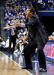 UK head coach JOhn Calipari yells at his team during the first half of the UK men's basketball game vs. Mississippi State at Rupp Arena on Tuesday, Feb. 15, 2011.  Photo by Britney McIntosh | Staff