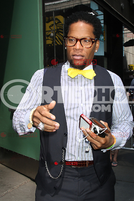 August 30, 2012: D.L. Hughley stops by Good Afternoon America Studios to discuss the Hot Topic of the Day, &quot;Are Manly Men a Dying Breed&quot; in New York City. /NortePhoto.com<br />
