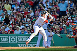 9 June 2012: Boston Red Sox fielder Adrian Gonzalez in action against the visiting Washington Nationals at Fenway Park in Boston, MA. The Nationals defeated the Red Sox 4-2 in the second game of their 3-game series. Mandatory Credit: Ed Wolfstein Photo