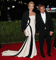 """NEW YORK CITY, NY, USA - MAY 05: Charlize Theron, Sean Penn at the """"Charles James: Beyond Fashion"""" Costume Institute Gala held at the Metropolitan Museum of Art on May 5, 2014 in New York City, New York, United States. (Photo by Xavier Collin/Celebrity Monitor)"""