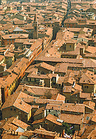 Italy, Bologna, Rooftops