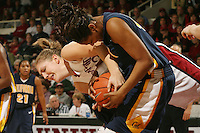 14 January 2006: Kristen Newlin during Stanford's 87-75 win over the California Golden Bears at Maples Pavilion in Stanford, CA.