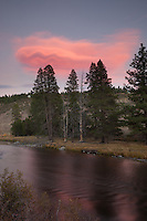 """Truckee River Sunset 2"" - This sunset was photographed along the Truckee River near Truckee, California."
