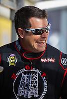 Nov 13, 2016; Pomona, CA, USA; NHRA top fuel driver Shawn Reed during the Auto Club Finals at Auto Club Raceway at Pomona. Mandatory Credit: Mark J. Rebilas-USA TODAY Sports