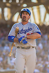 22 June 2013: Los Angeles Dodgers first baseman Adrian Gonzalez in action against the San Diego Padres at Petco Park in San Diego, California. The Dodgers defeated the Padres 6-1 in the third game of their 4-game Divisional Series. Mandatory Credit: Ed Wolfstein Photo *** RAW (NEF) Image File Available ***