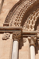 Gothic style doorway of St. Francis of Assisi church (1255-1277) , Palermo, Sicily
