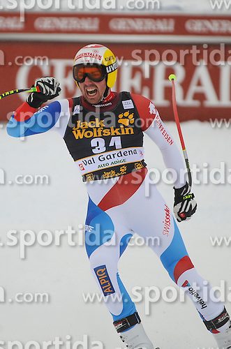 15.12.2012, Sasslong, Groeden, ITA, FIS Weltcup, Ski Alpin, Abfahrt, Herren, im Bild Andrej Jerman (SLO) // Andrej Jerman of Slovenia reacts after his Downhill run of the FIS Ski Alpine Worldcup at the Sasslong course, Groeden, Italy on 2012/12/15. EXPA Pictures © 2012, PhotoCredit: EXPA/ Erich Spiess