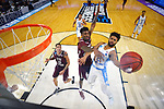 GREENVILLE, SC - MARCH 17: Joel Berry II (2) of the University of North Carolina puts up a shot under coverage from Lamont Walker (14) of Texas Southern University during the 2017 NCAA Men's Basketball Tournament held at Bon Secours Wellness Arena on March 17, 2017 in Greenville, South Carolina. (Photo by Grant Halverson/NCAA Photos via Getty Images)