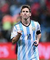 FUSSBALL WM 2014                HALBFINALE Niederlande - Argentinien       09.07.2014 Lionel Messi (Argentinien) jubelt nach dem Elfmeterschiessen