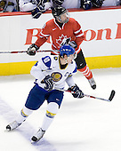 Nikita Ivanov (Kazakhstan - 10), Ryan Ellis (Canada - 8) - Canada defeated Kazakhstan 15-0 on Sunday, December 28, 2008, at Scotiabank Place in Kanata (Ottawa), Ontario, during the 2009 World Junior Championship.