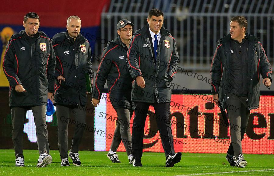 Fudbal, kvalifikacije za UEFA EURO 2016 qualifiers-Qualifying round - Group I<br /> Srbija v Portugal<br /> Head coach Radovan Curcic (C)<br /> Beograd, 11.10.2015.<br /> foto: Srdjan Stevanovic/Starsportphoto &copy;