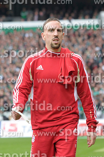 21.04.2012, Weserstadion, Bremen, GER, 1. FBL, SV Werder Bremen vs FC Bayern Muenchen, 32. Spieltag, im Bild Franck RIBERY ( FC Bayern Muenchen ) links und Jerome BOATENG ( FC Bayern Muenchen ) rechts, auf dem Weg zur Reservebank. // during the German Bundesliga Match, 32th Round between SV Werder Bremen and Fc Bayner Munich at the Weserstadium, Bremen, Germany on 2012/04/21. EXPA Pictures © 2012, PhotoCredit: EXPA/ Eibner/ Stefan Schmidbauer..***** ATTENTION - OUT OF GER *****