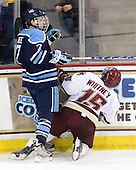 Robby Dee (Maine - 7), Joe Whitney (BC - 15) - The Boston College Eagles defeated the visiting University of Maine Black Bears 4-0 on Friday, November 19, 2010, at Conte Forum in Chestnut Hill, Massachusetts.