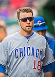 15 June 2016: Chicago Cubs second baseman Ben Zobrist walks the dugout during a game against the Washington Nationals at Nationals Park in Washington, DC. The Cubs fell to the Nationals 5-4 in 12 innings in the rubber match of their 3-game series. Mandatory Credit: Ed Wolfstein Photo *** RAW (NEF) Image File Available ***