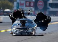 Sep 17, 2016; Concord, NC, USA; NHRA pro mod driver Steven Whiteley during qualifying for the Carolina Nationals at zMax Dragway. Mandatory Credit: Mark J. Rebilas-USA TODAY Sports