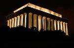 Lincoln Memorial at Night, National Mall, Washington DC
